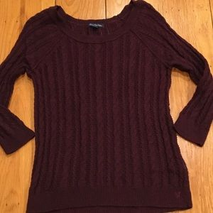 American Eagle Cable Knit Long Sleeve Sweater